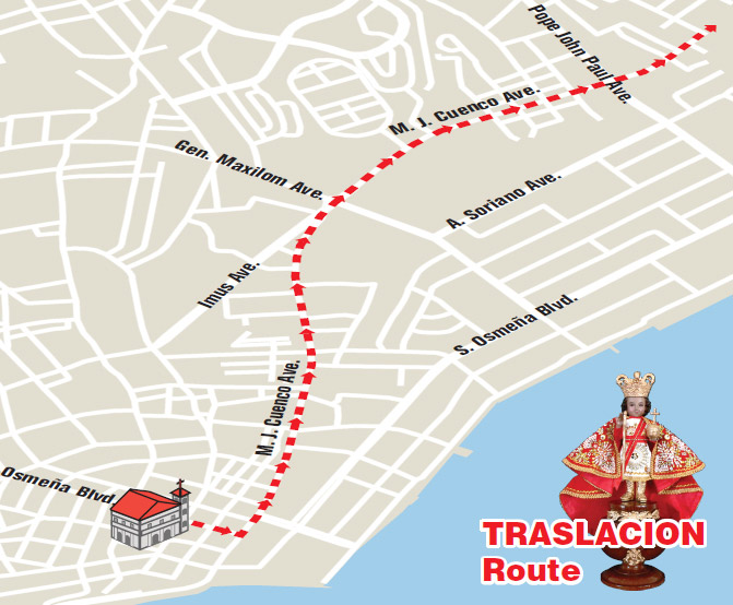 Sinulog 2015 Traslacion route map