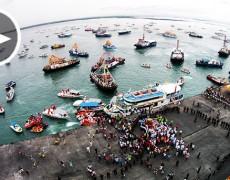 AERIAL VIDEOS: Sto. Niño fluvial parade